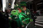 Irish and Americans celebrate the 252nd annual St. Patrick's Day Parade in NYC