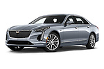 Stock pictures of low aggressive front three quarter view of 2019 Cadillac CT6 Premium-Luxury 4 Door Sedan Low Aggressive