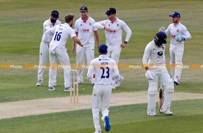 Daniel Bell Drummond of Kent leaves the field of play having being given out LBW during Essex CCC vs Kent CCC, Bob Willis Trophy Cricket at The Cloudfm County Ground on 1st August 2020