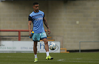 Paris Cowan-Hall of Wycombe Wanderers warms up ahead of the Sky Bet League 2 match between Morecambe and Wycombe Wanderers at the Globe Arena, Morecambe, England on 29 April 2017. Photo by Stephen Gaunt / PRiME Media Images.
