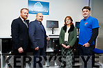 Launching of The Cloud Lab at Kerry ETB Training Centre in Monavalley on Tuesday by Guillaume Py (Director of Kerry SciTech). L to r: Con O,'Sullivan (ETB), Guillaume Py, Nora O'Callaghan (ETB) and Joe O'Shea (Instructor)