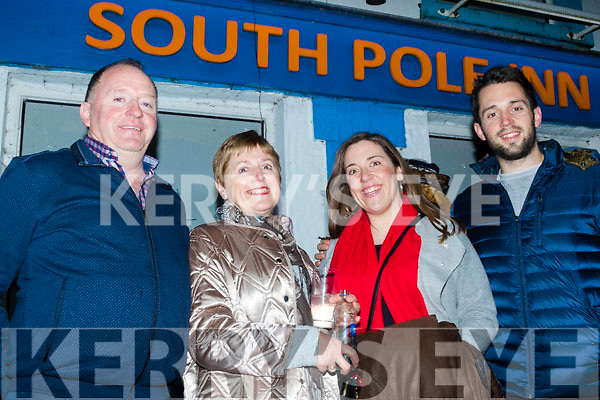 L-R Pat, Mary, Margeret&Thomas from Castlemaine, ringing in the New Year at the South Pole Inn, Anascaul.