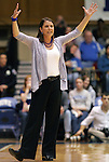 02 January 2012: Duke head coach Joanne P. McCallie. The Duke University Blue Devils defeated the University of Virginia Cavaliers 77-66 at Cameron Indoor Stadium in Durham, North Carolina in an NCAA Division I Women's basketball game.