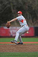 University of Houston Cougers pitcher Aaron Garza (21) during game game 1 of a double header against the Rutgers University Scarlet Knights at Bainton Field on April 5, 2014 in Piscataway, New Jersey. Rutgers defeated Houston 7-3.      <br />  (Tomasso DeRosa/ Four Seam Images)