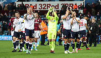 Bolton Wanderers' players applaud their travelling fans at the end of the match<br /> <br /> Photographer Andrew Kearns/CameraSport<br /> <br /> The EFL Sky Bet Championship - Aston Villa v Bolton Wanderers - Friday 2nd November 2018 - Villa Park - Birmingham<br /> <br /> World Copyright &copy; 2018 CameraSport. All rights reserved. 43 Linden Ave. Countesthorpe. Leicester. England. LE8 5PG - Tel: +44 (0) 116 277 4147 - admin@camerasport.com - www.camerasport.com