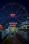 BROOKLYN, NY - September 17:  The Wonder Wheel at Coney Island