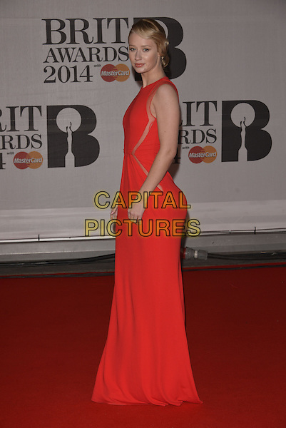 LONDON, ENGLAND - FEBRUARY 19: Iggy Azalea attends The BRIT Awards 2014 at 02 Arena on February 19, 2014 in London, England.<br /> CAP/PL<br /> &copy;Phil Loftus/Capital Pictures