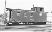 Caboose #0589 at Montrose.<br /> D&amp;RGW  Montrose, CO  8/1939