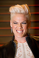 Pop Artist Pink arriving for the 2014 Vanity Fair Oscars Party, Los Angeles. 02/03/2014 Picture by: James McCauley/Featureflash