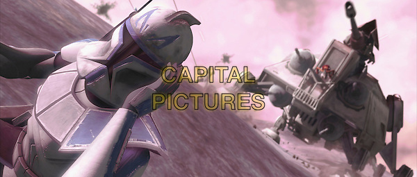 SCENE (Clone troopers engage in a thrilling vertical battle).in Star Wars: The Clone Wars.*Filmstill - Editorial Use Only*.CAP/FB.Supplied by Capital Pictures.