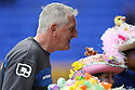 Tranmere manager Ronnie Moore with contestants in an Easter bonnet competition. - Tranmere Rovers v Stevenage - npower League 1 - Prenton Park, Tranmere - 6th April, 2012 . © Kevin Coleman 2012