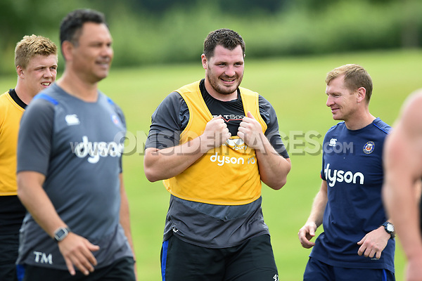 James Phillips of Bath Rugby looks on. Bath Rugby pre-season skills training on June 22, 2017 at Farleigh House in Bath, England. Photo by: Patrick Khachfe / Onside Images