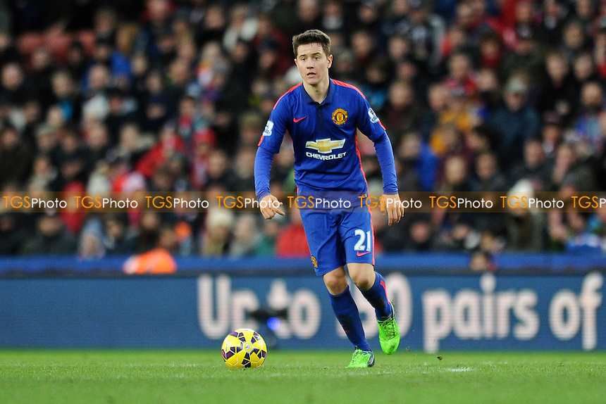 Ander Herrera of Manchester United - Stoke City vs Manchester United - Barclays Premier League Football at the Britannia Stadium, Stoke-on-Trent - 01/01/15 - MANDATORY CREDIT: Greig Bertram/TGSPHOTO - Self billing applies where appropriate - contact@tgsphoto.co.uk - NO UNPAID USE