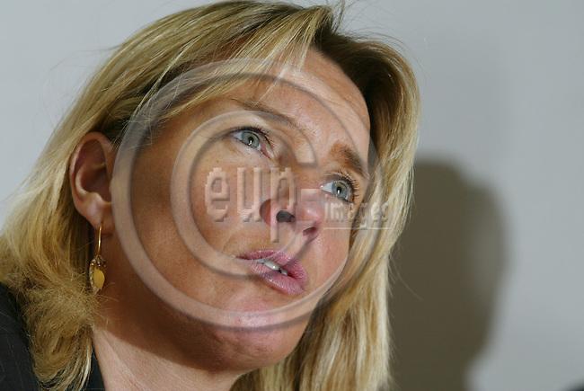 BRUSSELS - BELGIUM - 27 NOVEMBER 2002 -- Lene ESPERSEN Danish Minister for Justice.  PHOTO: ERIK LUNTANG/EUP-IMAGES