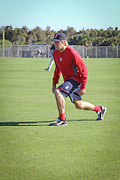 First base prospect Lars Anderson. Boston Red Sox return for spring training, Fort Myers, Florida, USA, Feb. 13, 2011. Photo by Debi Pittman Wilkey