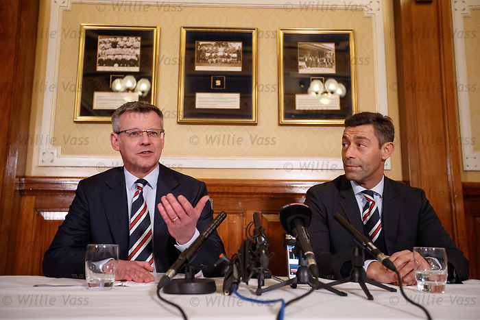 Stewart Robertson and Pedro Caixinha in the Blue Room