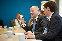 Foreign Secretary William Hague MP at a business leaders meeting in Derby