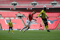 Mark Shelton (Salford City) during the Vanarama National League Playoff Final between AFC Fylde & Salford City at Wembley Stadium, London, England on 11 May 2019. Photo by James  Gil.
