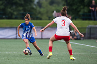 Boston, MA - Friday July 07, 2017: Angela Salem and Arin Gilliland during a regular season National Women's Soccer League (NWSL) match between the Boston Breakers and the Chicago Red Stars at Jordan Field.
