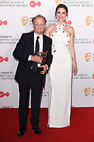 Toby Jones and Hayley Atwell<br /> in the winners room for the BAFTA TV Awards 2018 at the Royal Festival Hall, London<br /> <br /> ©Ash Knotek  D3401  13/05/2018