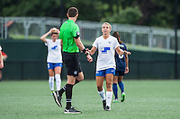 Allston, MA - Sunday July 17, 2016: Matthew Franz, Stephanie Verdoia during a regular season National Women's Soccer League (NWSL) match between the Boston Breakers and Sky Blue FC at Jordan Field.