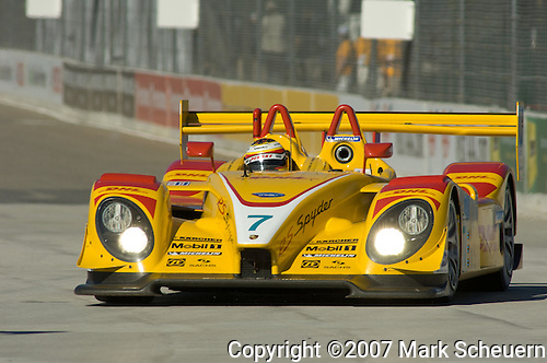 31 August 2007: The Penske Motorsports Porsche RS Spyder driven by Timo Bernhard (DEU) at the Detroit Sports Car Challenge presented by Bosch, Detroit, MI