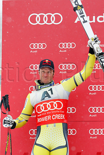 03.12.2011. Beaver Creek Colorado USA Ski Alpine FIS World Cup Super G the men Picture shows Aksel Lund Svindal NOR Keywords Award Ceremony