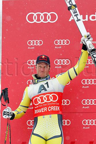 03.12.2011. Beaver Creek Colorado USA Ski Alpine FIS World Cup Super G the men Picture shows Aksel Lund Svindal NOR Keywords Award Ceremony