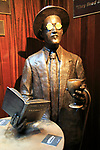 James Joyce 1882-1941 sculpture statue inside the Temple Bar pub, Dublin city centre, Ireland, Republic of Ireland