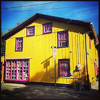 A brightly colored house on Franklin and Page St in Cape May, New Jersey on September 6, 2015