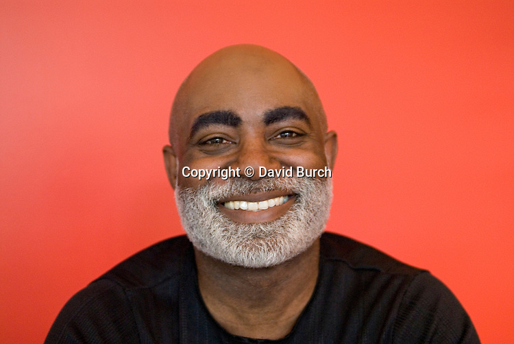 Mature African American man smiling,