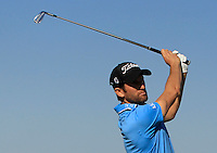Gregory Bourdy (FRA) on the 8th tee during Round 1 of the 2015 Alfred Dunhill Links Championship at Kingsbarns in Scotland on 1/10/15.<br /> Picture: Thos Caffrey | Golffile
