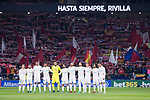 Real Madrid during minute's silence for soccer player Feliciano Rivilla before La Liga match between Atletico de Madrid and Real Madrid at Wanda Metropolitano in Madrid, Spain. November 18, 2017. (ALTERPHOTOS/Borja B.Hojas)