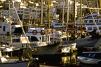 Pleasure boats at San Juan harbour,Tenerife, Canary Islands, Spain