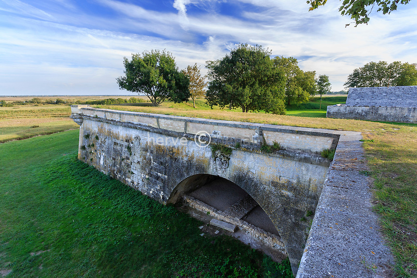 France, Charente-Maritime (17), Hiers-Brouage, citadelle de Brouage, le port souterrain ou port de la Brêche // France, Charente Maritime, Hiers Brouage, Citadel of Brouage, underground harbor or harbor Breche