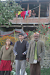 Local people in the village of Chansari in the mountains above Kullu in the Kullu Valley,Himachal Pradesh,India.