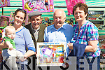 PATTERNDAY: Shopping from one of the stalls on Pattern Day in Castlegregory,on Sunday L-r: Roisi?n and John Horgan , Timmy Kelliher, Noel Cummins and Maura Begley O'Shea (Castlegregory)..