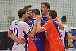 02.12.2017,  Hamburg GER, VBL, SVG Lueneburg vs United Volleys Rhein-Main  im Bild die Manschaft der United Volleys jubelt / Foto © nordphoto / Witke
