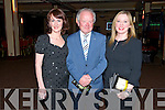 Cait Duggan from Killarney, Sean O'Donoghue from White Villa Farm and Margie Mannix from Killarney at the opening night of the Jesus Christ Superstar musical by the Killarney Musical Society at the INEC, Killarney last Tuesday night.