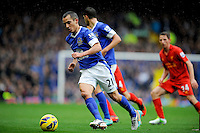 28.10.2012 Liverpool, England.  Leon Osman    in action during the Premier League game between Everton and Liverpool  from Goodison Park ,Liverpool