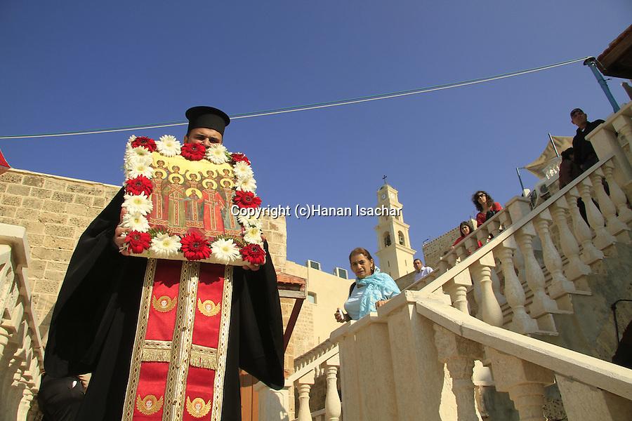 Israel, Jaffa, St. Michael's Day at the Greek Orthodox St. Michael's Church