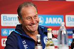 11.05.2019, BayArena, Leverkusen, GER, 1. FBL, Bayer 04 Leverkusen vs. FC Schalke 04 ,<br />  <br /> DFL regulations prohibit any use of photographs as image sequences and/or quasi-video<br /> <br /> im Bild / picture shows: <br /> Pressekonferenz (PK) nach dem Spiel,  Huub Stevens Interiemstrainer (Headcoach FC Schalke 04),  <br /> <br /> Foto &copy; nordphoto / Meuter