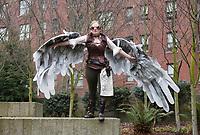 Cool Steampunk Girl with Wings, Emerald City Comicon 2017, Seattle, WA, USA.