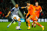 3rd March 2020; The Hawthorns, West Bromwich, West Midlands, England; English FA Cup Football, West Bromwich Albion versus Newcastle United; Matt Phillips of West Bromwich Albion looks to beat Fabian Schar of Newcastle United