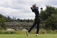 Giovanni Manzoni of Team Italy on the 1st tee during Round 3 of the WATC 2018 - Eisenhower Trophy at Carton House, Maynooth, Co. Kildare on Friday 7th September 2018.<br /> Picture:  Thos Caffrey / www.golffile.ie<br /> <br /> All photo usage must carry mandatory copyright credit (&copy; Golffile | Thos Caffrey)
