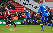 10th February 2018, Bramall Lane, Sheffield, England; EFL Championship football, Sheffield United versus Leeds United; Stuart Dallas of Leeds United runs forward with the ball