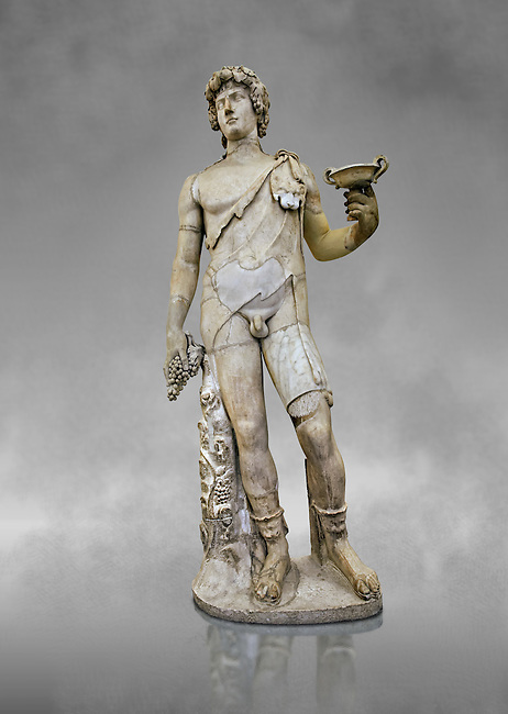 Roman marble sculpture of Antinous as Bacchus, a 2nd century AD, inv no 6314 Farnese Collection, Naples Archaeological Muueum