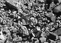 Mostar / Bosnia Erzegovina 1994<br /> Le bombe e la distruzione colpiscono i simboli religiosi. Nella foto le rovine della Chiesa ortodossa distrutta con l'esplosivo dai soldati dell'Armija Bosniaca.<br /> Bombs and destruction affecting religious symbols. In the picture the ruins of the Orthodox Church on the Croatian side of Mostar., destroyed by the soldiers of the Bosnian Army.<br /> Photo Livio Senigalliesi
