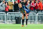 Stockholm 2014-09-28 Fotboll Superettan Hammarby IF - IK Sirius :  <br /> Sirius Christer Gustafsson deppar efter matchen och 1-4 f&ouml;rlusten mot Hammarby <br /> (Foto: Kenta J&ouml;nsson) Nyckelord:  Superettan Tele2 Arena Hammarby HIF Bajen Sirius IKS depp besviken besvikelse sorg ledsen deppig nedst&auml;md uppgiven sad disappointment disappointed dejected