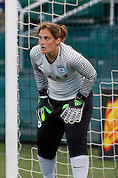 Rochester, NY - Friday July 01, 2016: Chicago Red Stars goalkeeper Michele Dalton (18) during a regular season National Women's Soccer League (NWSL) match between the Western New York Flash and the Chicago Red Stars at Rochester Rhinos Stadium.